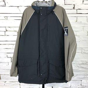 Nautica Insulated Rain Coat Hooded Warm 2229